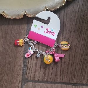 Justice Food Charm Bracelet Gem Google Eyes
